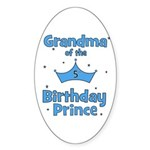 Grandma of the 5th Birthday P Oval Sticker