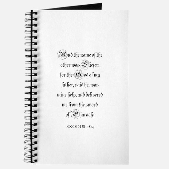 EXODUS 18:4 Journal
