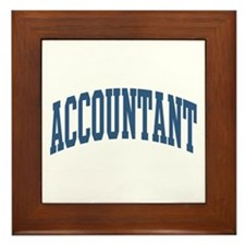 Accountant Occupation Collegiate Style Framed Tile