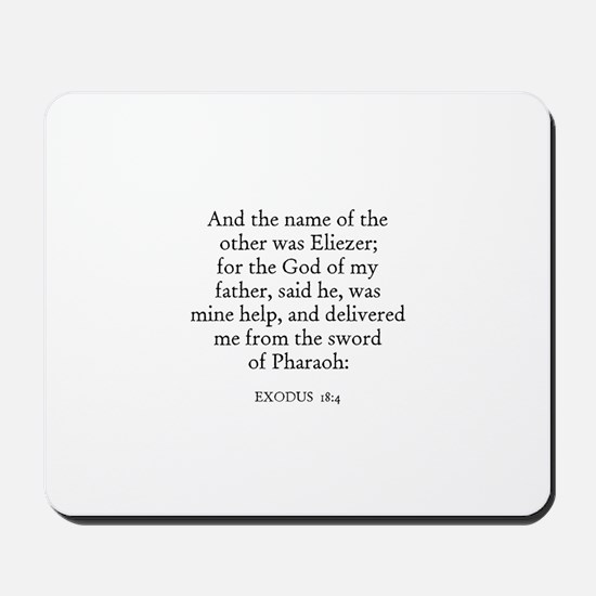 EXODUS  18:4 Mousepad