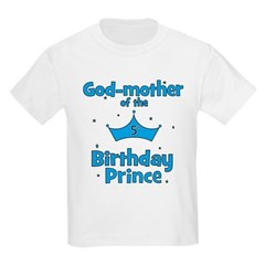 Godmother of the 5th Birthday Kids Light T-Shirt