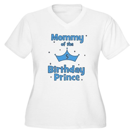 Mommy of the 5th Birthday Pri Women's Plus Size V-
