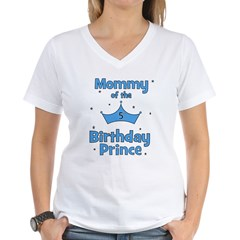 Mommy of the 5th Birthday Pri Women's V-Neck T-Shi