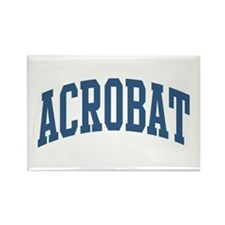 Acrobat Occupation Collegiate Style Rectangle Magn