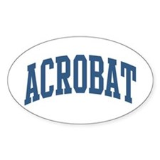 Acrobat Occupation Collegiate Style Decal
