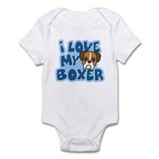 I Love my Boxer Infant Bodysuit