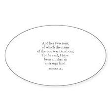 EXODUS 18:3 Oval Decal