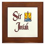 Sir Josiah Framed Tile