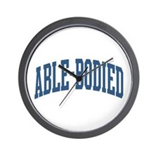 Able-Bodied Nickname Collegiate Style Wall Clock