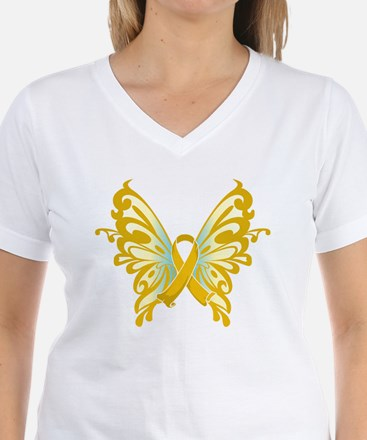 Childhood Cancer Butterfly Shirt
