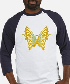 Childhood Cancer Butterfly Baseball Jersey