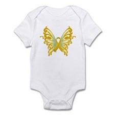 Childhood Cancer Butterfly Infant Bodysuit