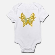 Childhood Cancer Butterfly Infant Bodysuit