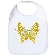 Childhood Cancer Butterfly Bib