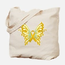 Childhood Cancer Butterfly Tote Bag