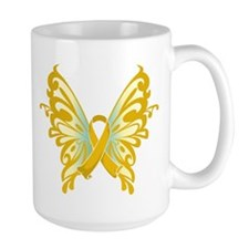 Childhood Cancer Butterfly Mug