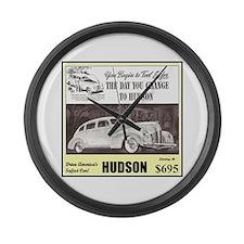 """""""1938 Hudson Ad"""" Large Wall Clock"""