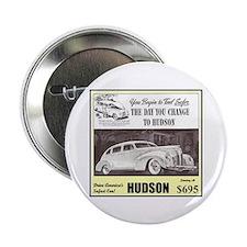 """""""1938 Hudson Ad"""" 2.25"""" Button"""