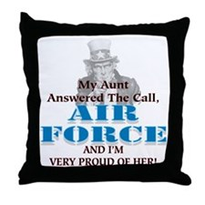 Air Force Aunt Throw Pillow