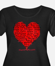 Have a Heart Women's Plus Size Black T-Shirt