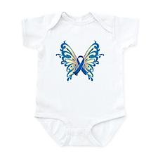 Colon Cancer Butterfly Infant Bodysuit