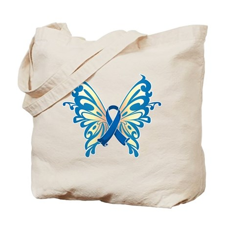 Colon Cancer Butterfly Tote Bag