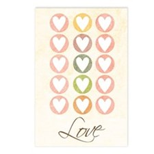 Circled Valentine's Hearts Postcards (8 Pk)