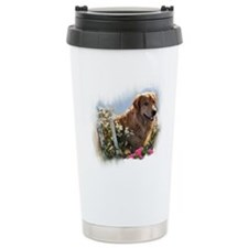 Golden Retriever Art Travel Mug