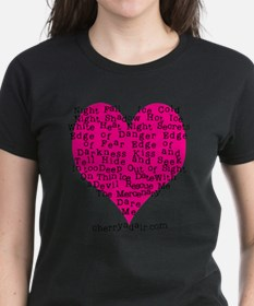 Have a Heart Women's Tee in Black, Red or Violet