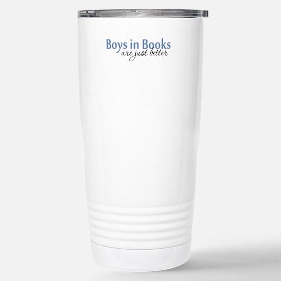 Boys in Books Stainless Steel Travel Mug