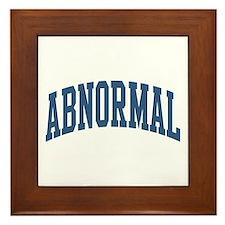 Abnormal Nickname Collegiate Style Framed Tile