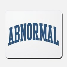 Abnormal Nickname Collegiate Style Mousepad