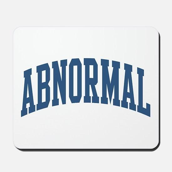 Abnormal Nickname Collegiate Style Mousepad