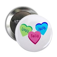 """Candy hearts 1 2.25"""" Button"""
