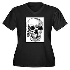 Craneo Women's Plus Size V-Neck Dark T-Shirt