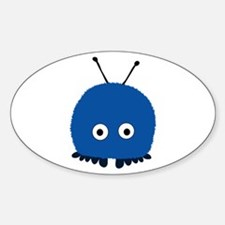 Blue Wuppie Oval Decal