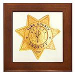 Yuma County Sheriff Framed Tile