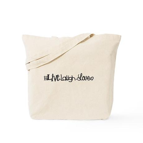 Live. Laugh. Love Tote Bag