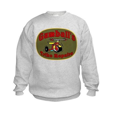 Gumball Trike Repair Kids Sweatshirt