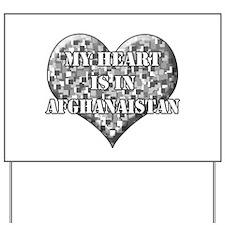My heart is in afganaisan Yard Sign