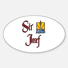 Sir Josef Oval Decal