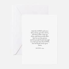 EXODUS  19:24 Greeting Cards (Pk of 10)
