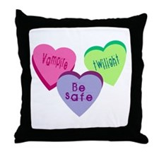Candy hearts 3 Throw Pillow