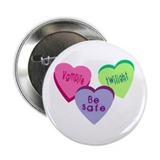 """Candy hearts 3 2.25"""" Button"""