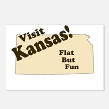 Visit Kansas, Flat But Fun Postcards (Package of 8