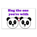 HUG THE ONE YOU'RE WITH Rectangle Sticker 10 pk)