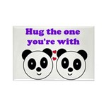 HUG THE ONE YOU'RE WITH Rectangle Magnet