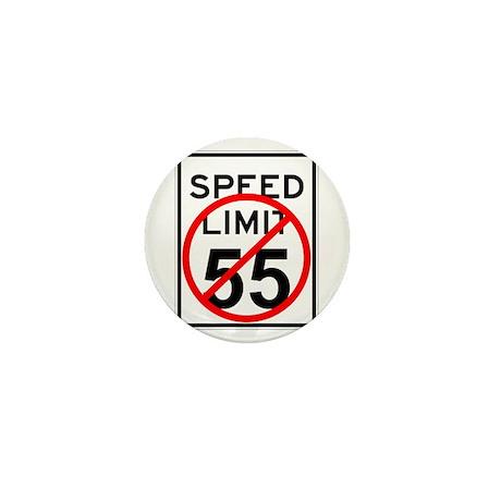 No 55 limit sign Mini Button