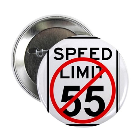 "No 55 limit sign 2.25"" Button (100 pack)"