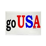 go USA Rectangle Magnet (10 pack)